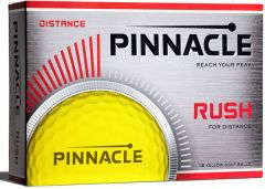 Printed Pinnacle Rush Yellow golf balls | Best4SportsBalls