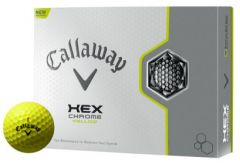 Callaway HEX Chrome Yellow Golf Balls | Best4Balls