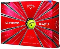Printed Callaway Chrome Soft Yellow | Best4SportsBalls
