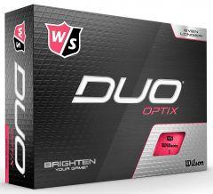 Printed Wilson Duo Optix Pink golf balls | Best4SportsBalls
