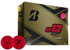 Printed Bridgestone e12 Soft Matte Red golf balls | Best4SportsBalls