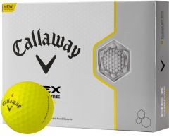 Printed Callway Hex Chrome Yellow golf balls | Best4SportsBalls