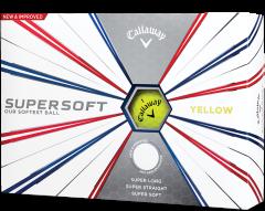 Printed Supersoft Yellow golf balls | Best4SportsBalls