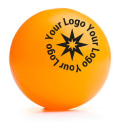 Logo Printed Non-Branded Orange Table Tennis Balls | Best4SportsBalls