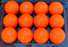 Printed Non-Branded Orange golf balls | Best4SportsBalls
