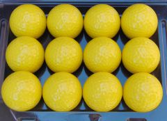 Printed Non-Branded Yellow golf balls | Best4SportsBalls