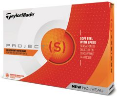 TaylorMade Project S orange printed golf balls | Best4SportsBalls
