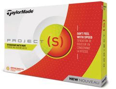 TaylorMade Project S Yellow printed golf balls | Best4SportsBalls