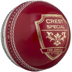 Crest Special Red/White personalised cricket ball | Best4Balls