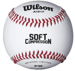 Printed Logo Wilson Baseball - Soft Compression | Best4SportsBalls