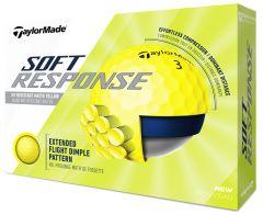Printed TaylorMade Soft Response Yellow golf balls | Best4SportsBalls