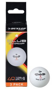 Dunlop Club Championship table tennis balls | Best4SportsBalls