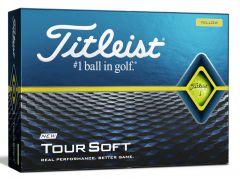 Printed Titleist Tour Soft Yellow Golf Balls | Best4SportsBalls