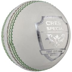 Personalised white Crest Specil cricket balls 156g | Best4Balls
