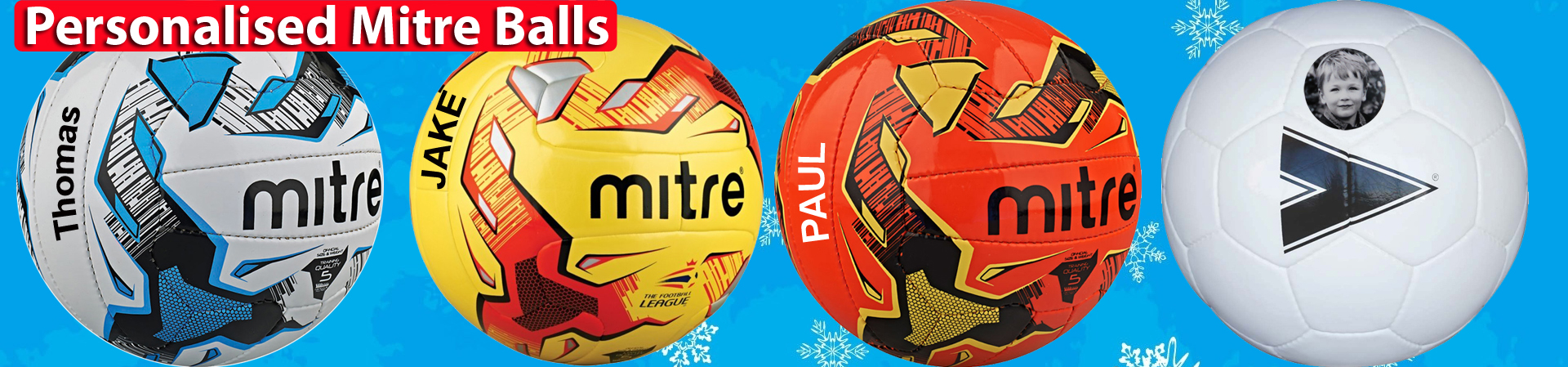 Personalized Mitre balls