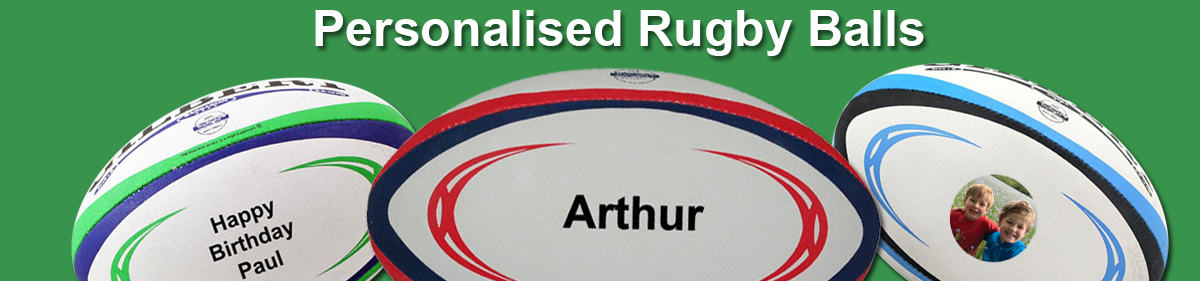Printed and personalised Rugby Balls
